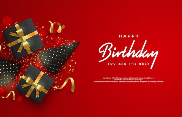 Happy birthday background Premium Vector