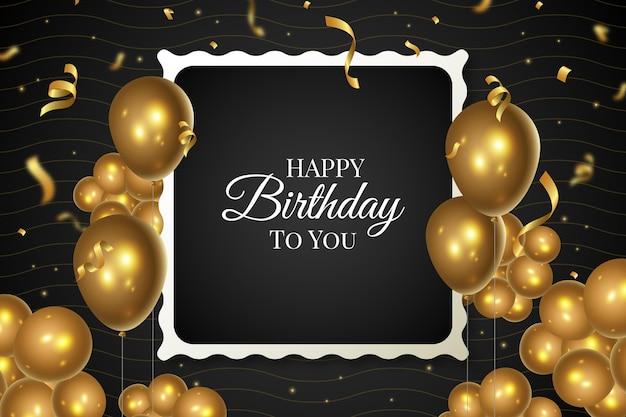 С днем рождения воздушные шары фон Premium векторы