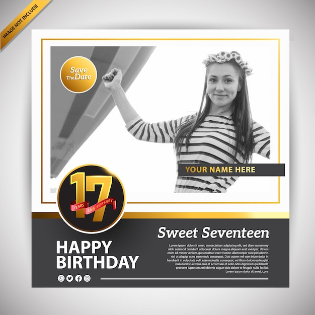 Sweet 17 Images Free Vectors Stock Photos Psd