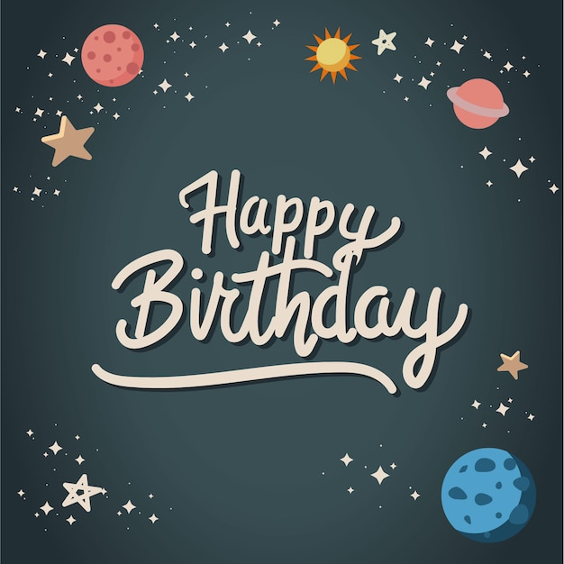 happy birthday banner vector free download