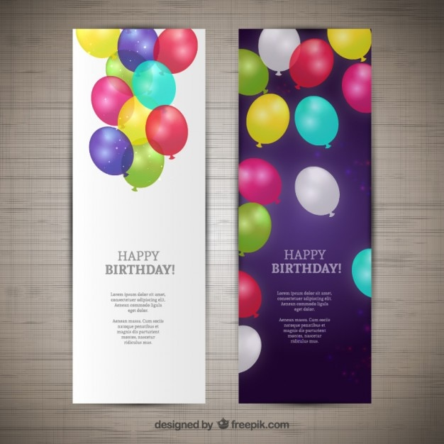 happy birthday banners vector free download