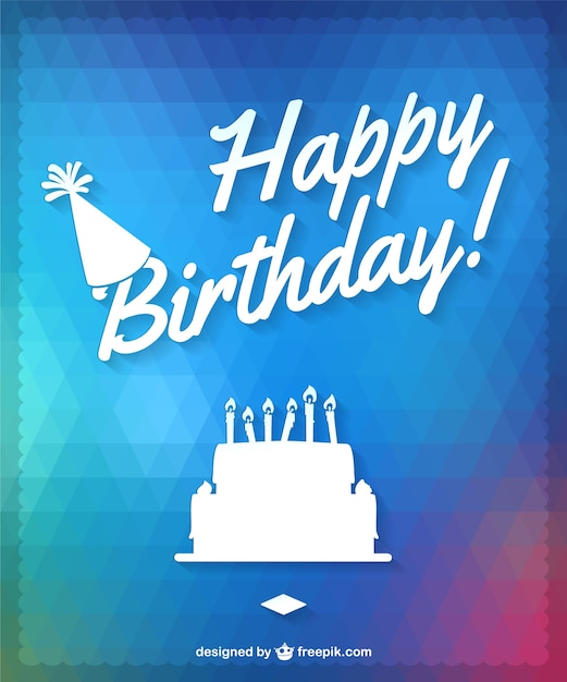 Happy Birthday Cake Design Vector Free Download
