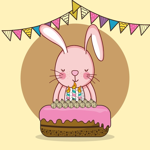Happy Birthday Card Cartoons Vector Premium Download