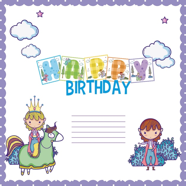Happy Birthday Card For Little Boy Vector Premium Download
