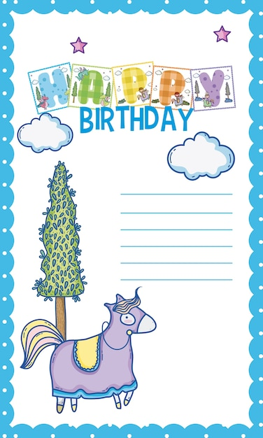 Happy Birthday Card For Little Boy Vector Premium Download