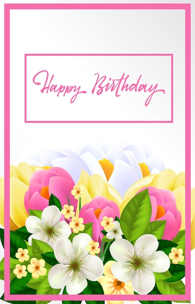 Happy birthday card for woman vector free download happy birthday card for woman free vector bookmarktalkfo Images