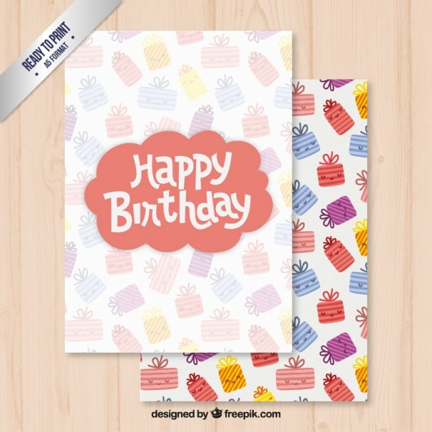Happy birthday card template Vector – Happy Birthday Card Template Free Download
