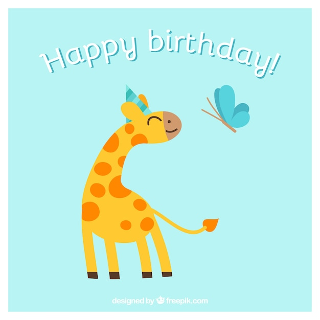 Happy birthday card with animals vector free download happy birthday card with animals free vector bookmarktalkfo