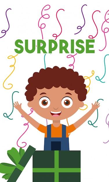 Happy birthday card with kids Premium Vector