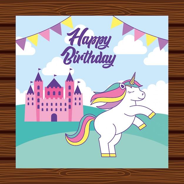 Happy birthday card Premium Vector