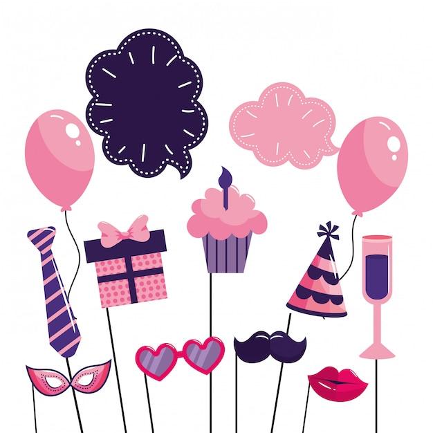 Happy birthday cartoon Premium Vector