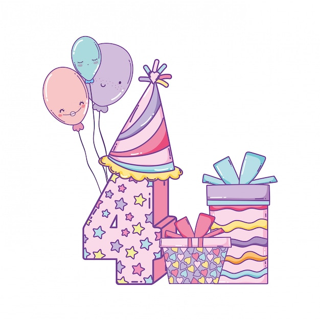 Happy Birthday Cartoons Vector Premium Download
