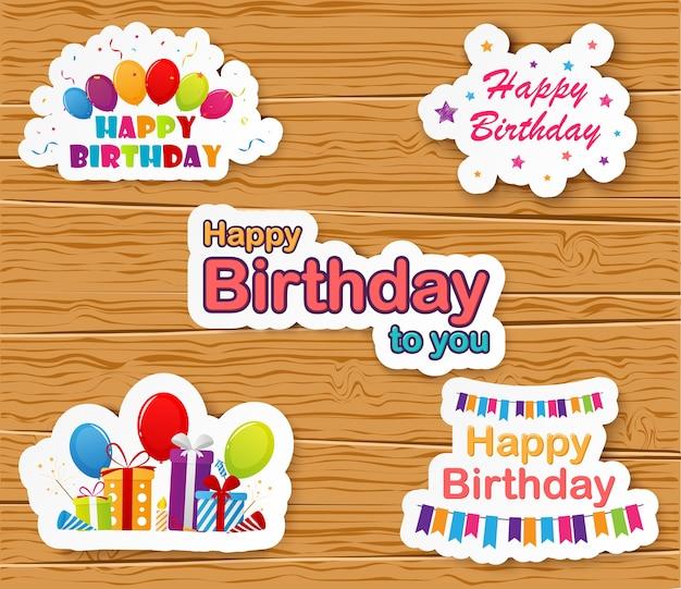 Happy birthday celebration card design Premium Vector