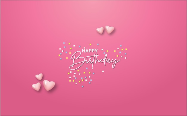 Happy birthday celebration party decoration design Premium Vector