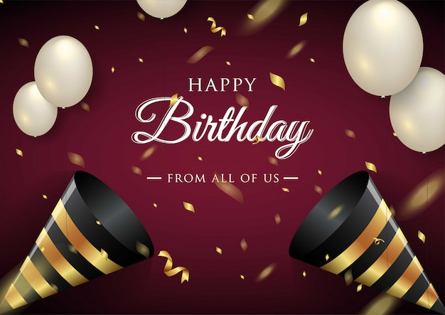 Happy birthday celebration typography  for greeting card Premium Vector