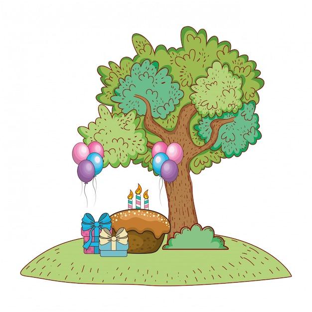 Happy birthday cute animal Premium Vector