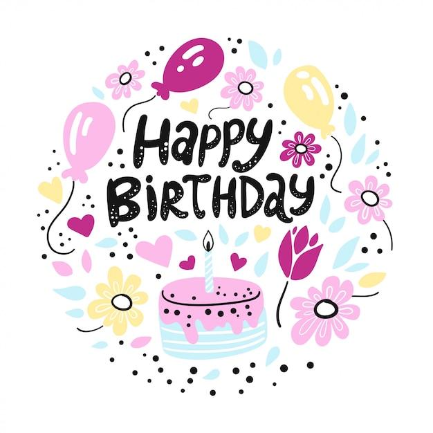Happy Birthday. A Cute Birthday Print