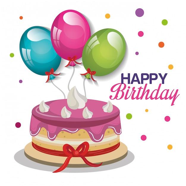 Happy birthday design Free Vector