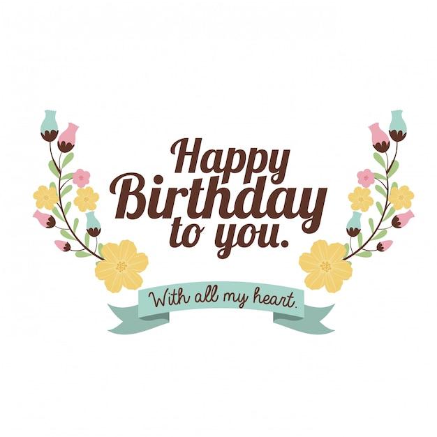 Happy birthday design Premium Vector