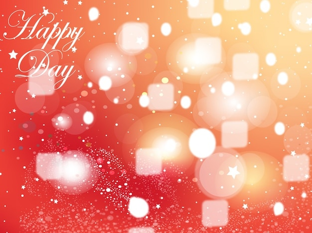 Happy Birthday Graphics With Squares And Bubbles Vector