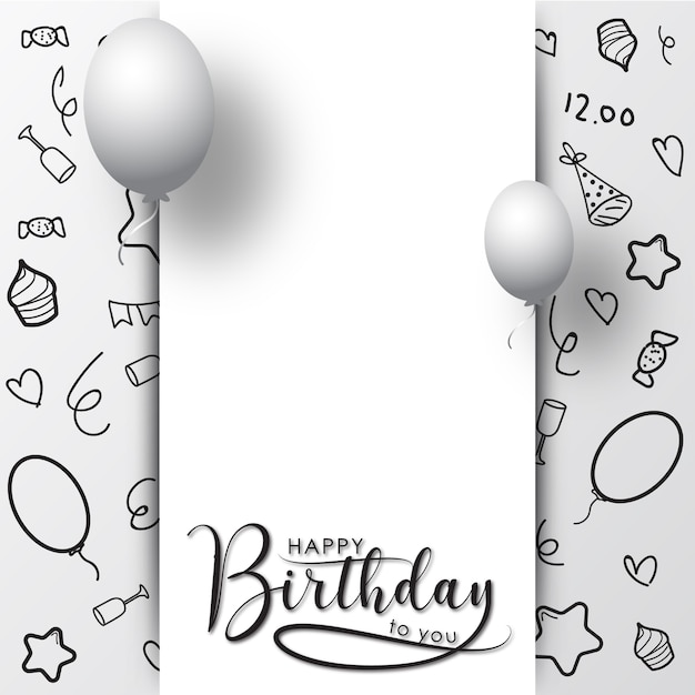 Happy Birthday Greeting Card Background Vector Premium Download