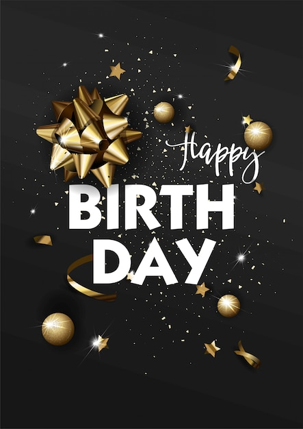 premium vector  happy birthday greeting card template