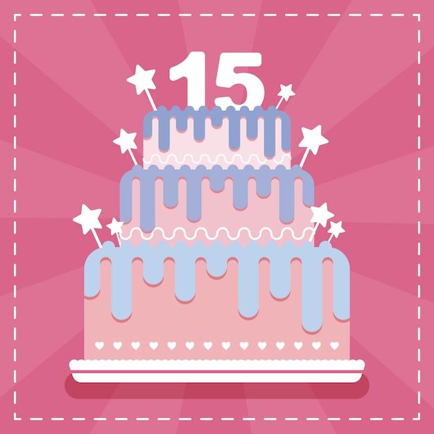 Sensational Happy Birthday Greeting Card With Cake For 15Th Birthday Premium Funny Birthday Cards Online Inifofree Goldxyz