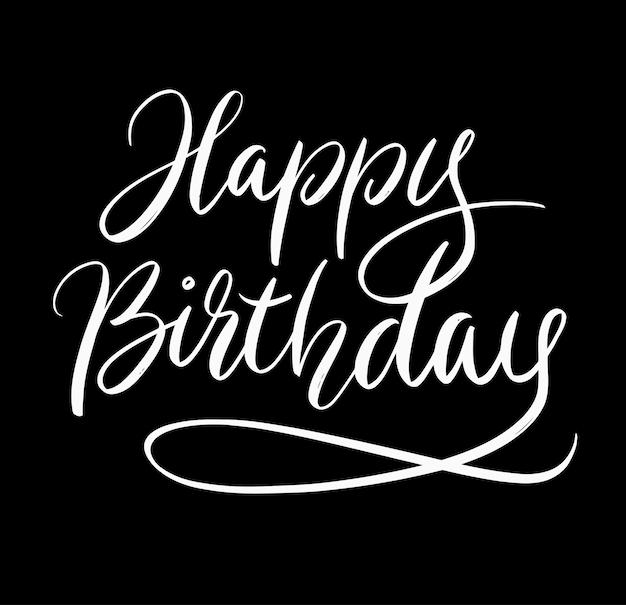Happy Birthday Handwriting Calligraphy Vector