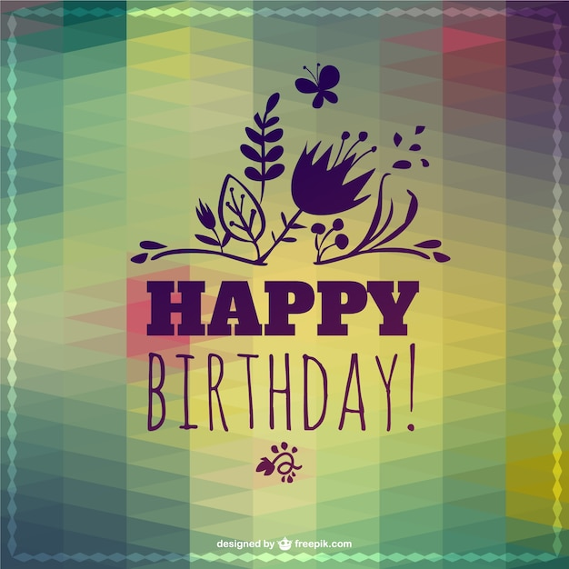 Happy Birthday Para Hombres ~ Happy birthday lettering abstract template vector free download