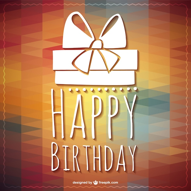 Happy birthday lettering gift template Free Vector