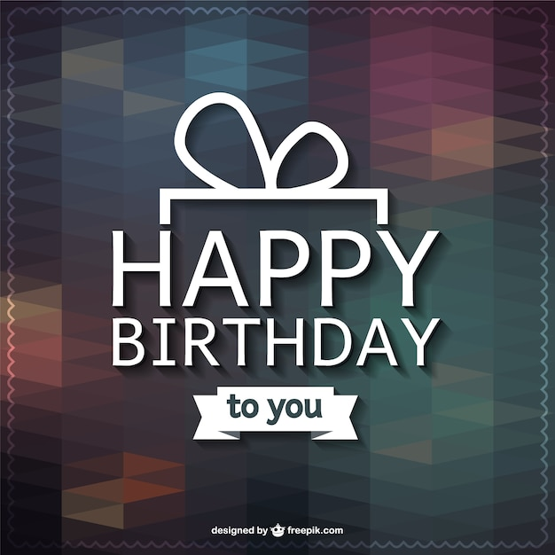 Happy Birthday Lettering Greeting Card Free Vector