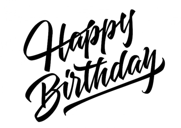 happy birthday lettering vector free download rh freepik com happy birthday logo images happy birthday logos for free