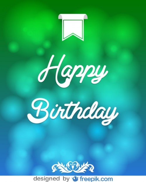 Happy Birthday Message Card Vector Free Download