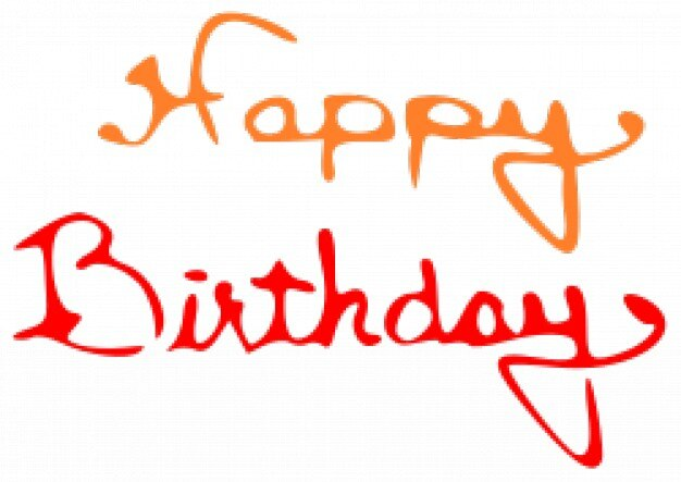 happy birthday orange and red letters vector free download rh freepik com