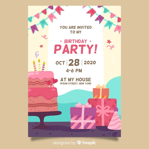 free party invitations templates for birthdays