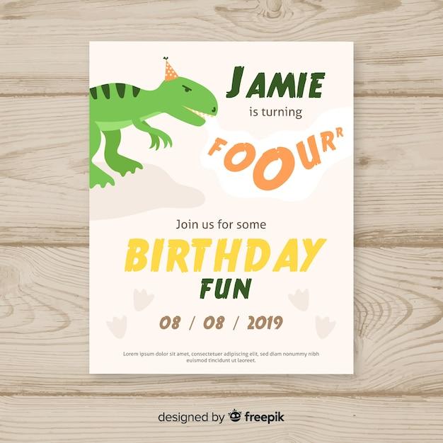Happy birthday party invitation template Free Vector