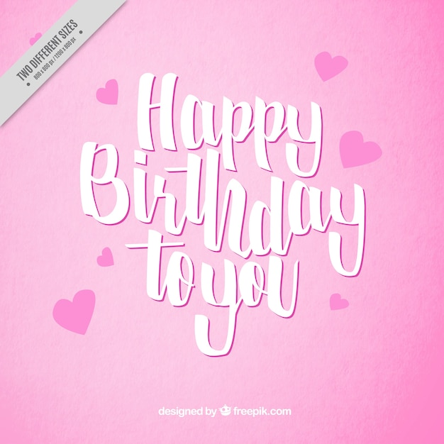 happy birthday pink background vector free download