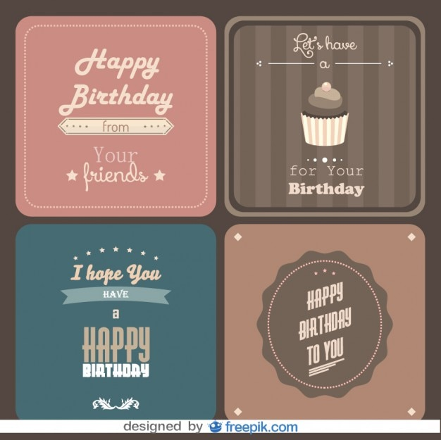 Happy birthday postcard pack vector free download happy birthday postcard pack free vector bookmarktalkfo Image collections