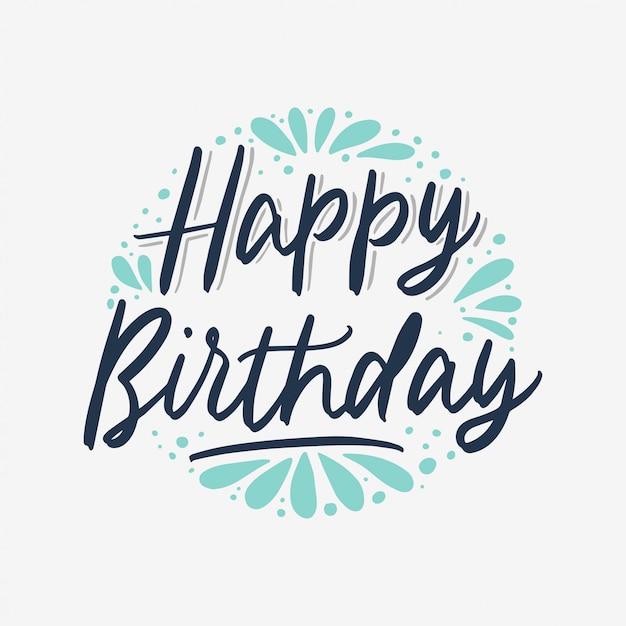 Happy birthday poster Premium Vector