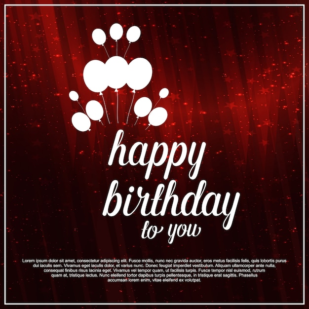 Free Vector Happy Birthday Red Background