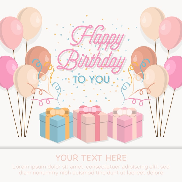 happy birthday template free
