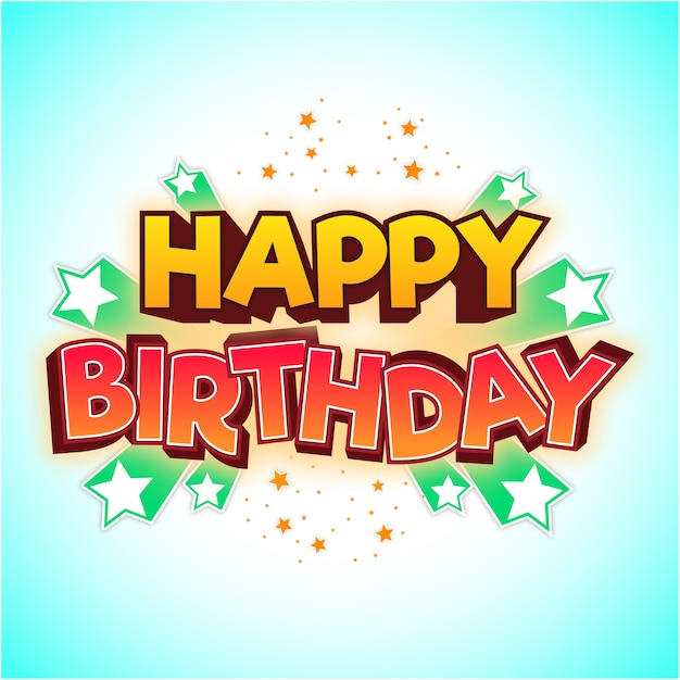 Happy birthday tittle element and background Premium Vector