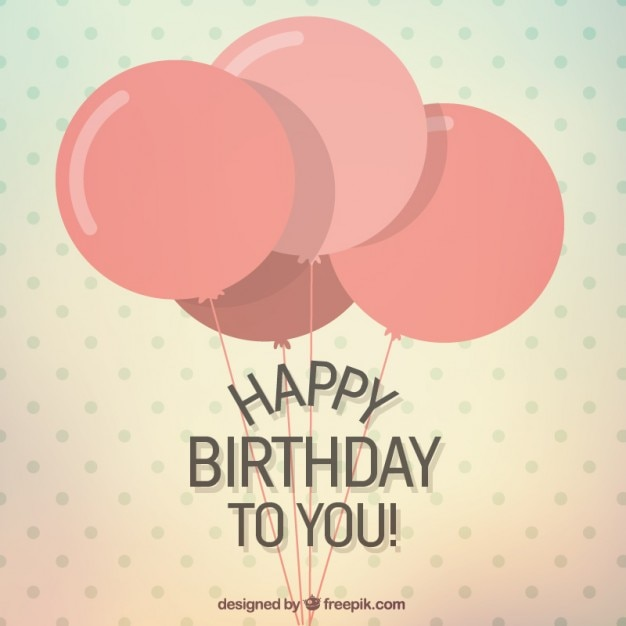 Happy birthday to you card Premium Vector