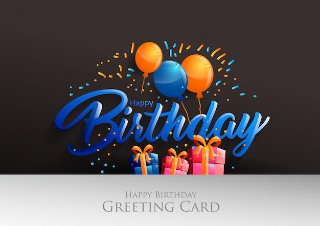 Happy Birthday Design Vector ~ Happy birthday typographic vector design vector premium download