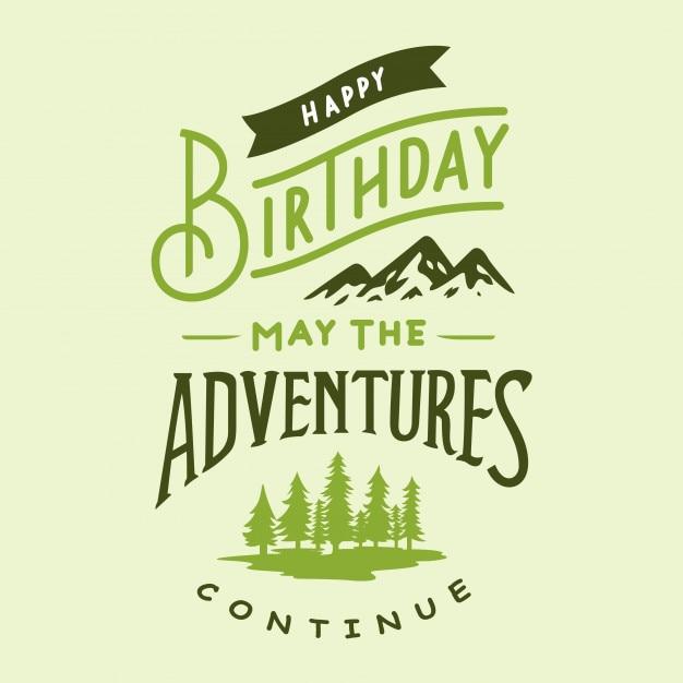 happy birthday typography design vector premium download
