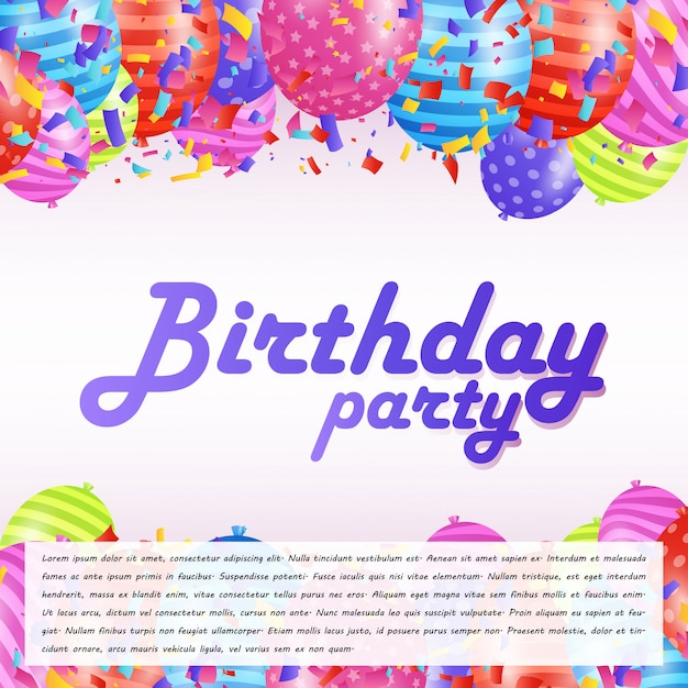 Happy birthday typogrpahy card with creative design vector  Free Vector
