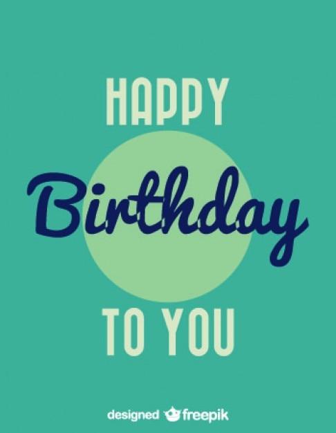 Happy birthday vintage style card design vector free download happy birthday vintage style card design free vector bookmarktalkfo Image collections