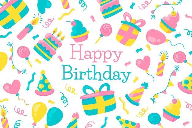 Free Vector Happy Birthday Wallpaper