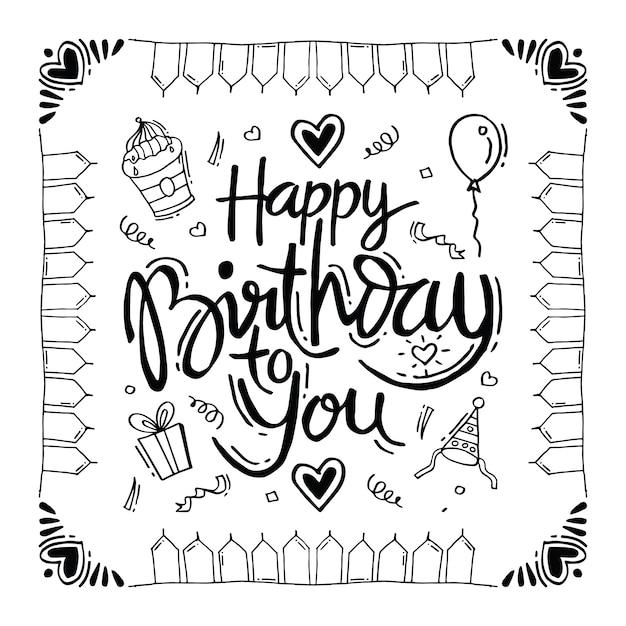 Happy birthday to you Premium Vector