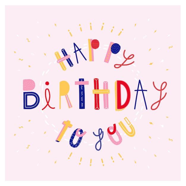 Happy birthday to you! Free Vector
